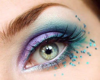 Lavender & Turquoise Shadow with Turquoise Crystals