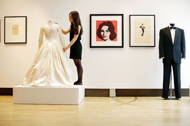 Elizabeth Taylor's first wedding dress sells for nearly $188,000 at London auction