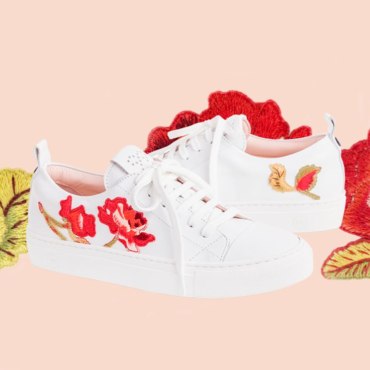 This is a tribute to Portugal's embroiderers and their almost extinct savoir-faire. Together with several talented embroiderers from the Sousa Valley, who learned this art from their grandmothers, we created Josefinas Rose Couture sneakers. #JosefinasSavoirFaire