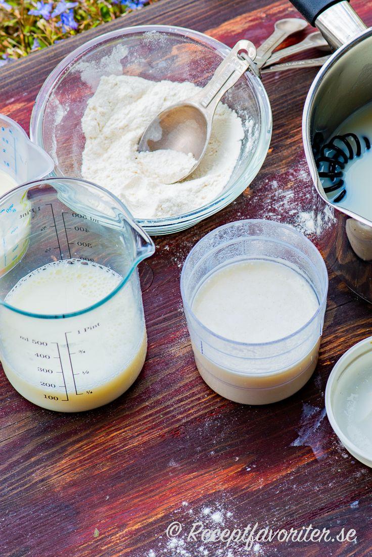 sås på mjölk