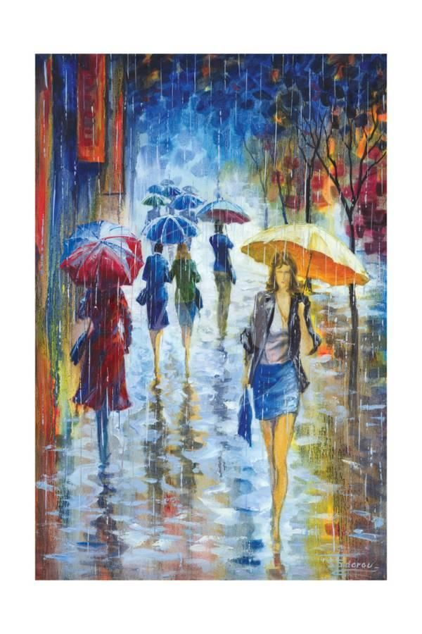 6d19e9a49 Walking in Rain IIIBy Stanislav Sidorov in 2019 | Pastel paintings | Rain  art, Art, Umbrella art