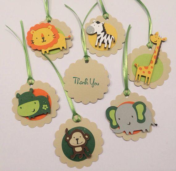 Etiquetas a Favor temática zoo o selva 12