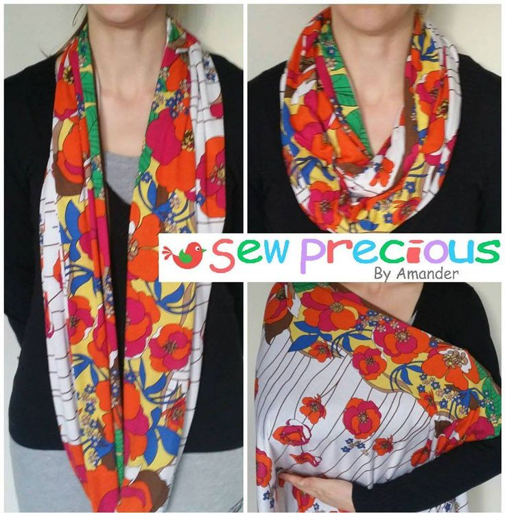 Handmade by Sew Precious By Amander Infinity Nursing Scarf / Breastfeeding cover /Snood  Colour: Red, Orange and Brown Floral