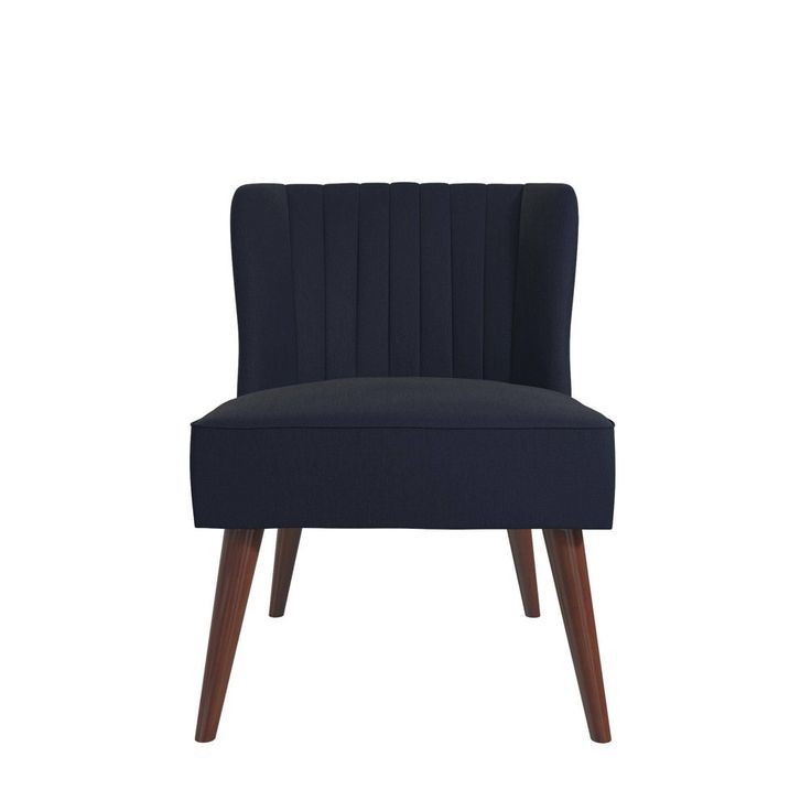 Best Brittany Linen Upholstered Accent Chair Navy Blue 400 x 300