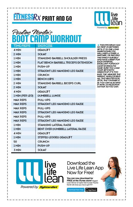 Boot Camp Sample Workouts | EOUA Blog