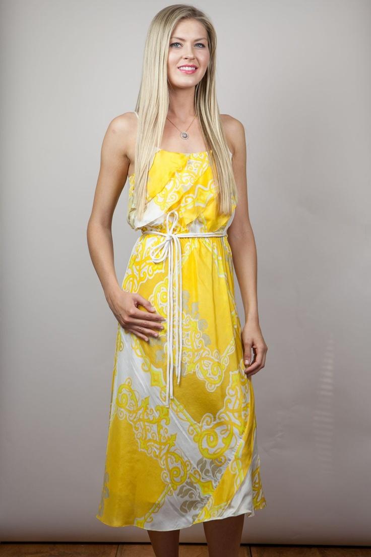 Yoana Baraschi - Beach Baroque Midi Dress Great Bright Beach Dress!