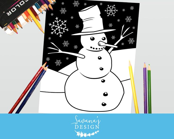 17 Best Ideen zu Snowman Coloring Pages auf Pinterest