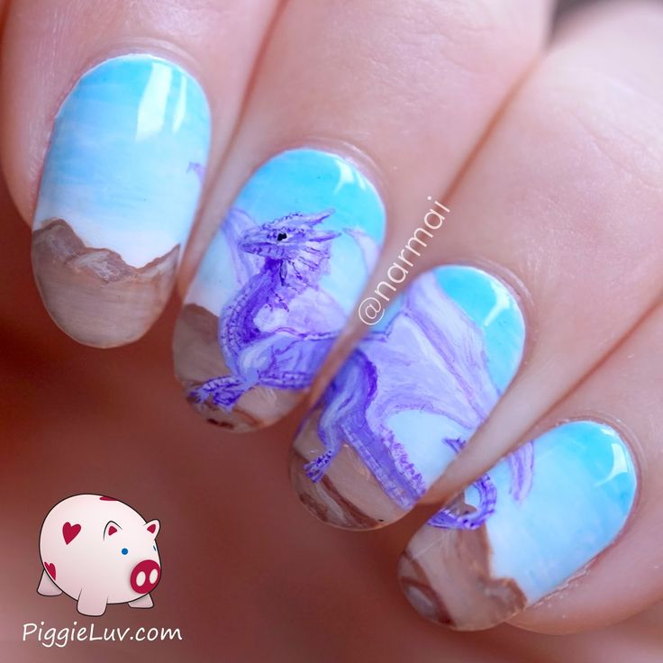 Cute purple dragon nail art - The 25+ Best Dragon Nails Ideas On Pinterest Cat Eye Contacts
