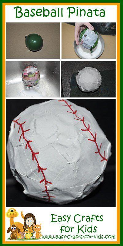 Baseball Crafts for Kids - Baseball Pinata Fun!
