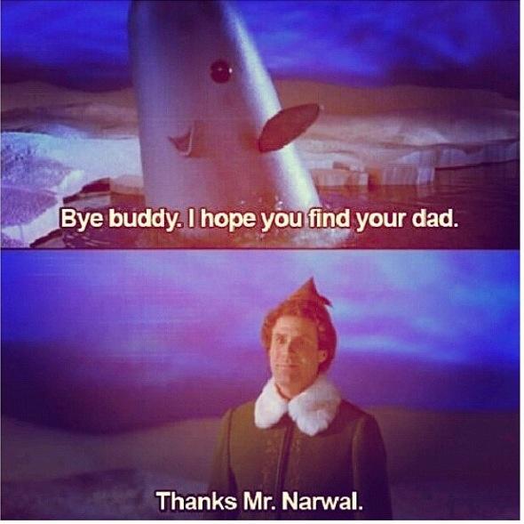 mr narwhal byebuddy elf movie funny stuff 2