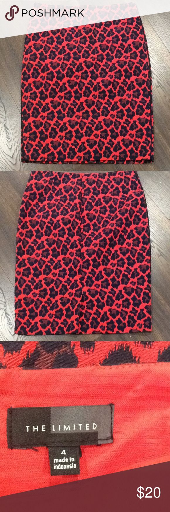 The Limited Skirt ✨Just Listed✨ Gorgeous like new The Limited Skirt!  Length: approx. 22.5  Size: 4  Pattern: Leopard print  Material: 65% Cotton and 35% Polyester   Fully lined/lining 100% polyester   Versatile piece for your wardrobe!  It can be used for work or for an evening of fun. The Limited Skirts