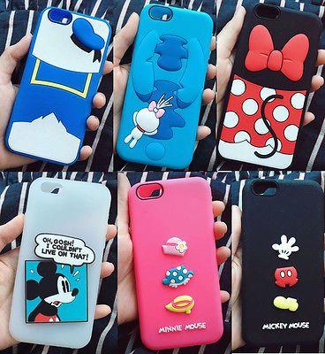 3d Lindo Cartoon Disney De Goma De Silicona Funda Flexible Funda Para Iphone…