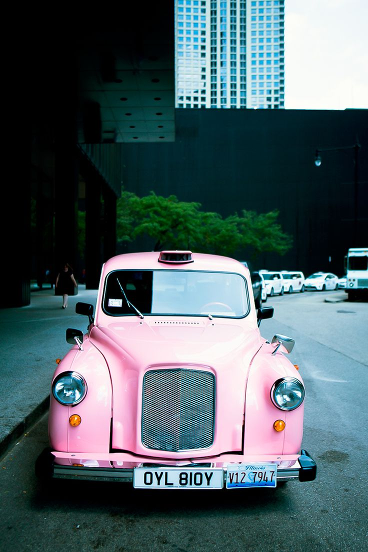 The Langham Chicago pink taxi