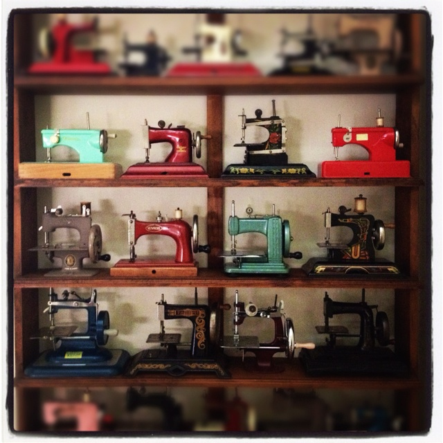 .: Window, Vintage Sewing Machine