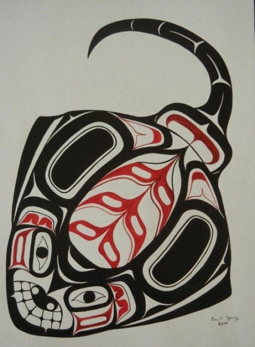 Skate by Haida artist Carol Young Bagshaw