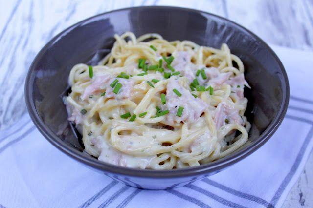 Rezepte mit Herz: Spaghetti mit Schinken - Sahne - Soße ♡