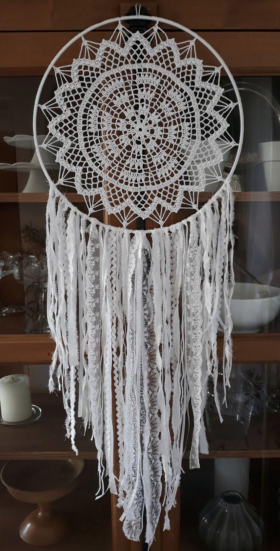 Lapacz Snow 35 Cm Hand Made Szydelko 7598361855 Oficjalne Archiwum Allegro Dream Catcher White Crochet Basket Pattern Crochet Mandala