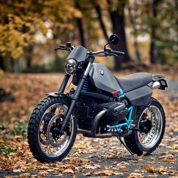 BMW boxer based scrambler built by the Estonian customizer Renard Speed Shop.