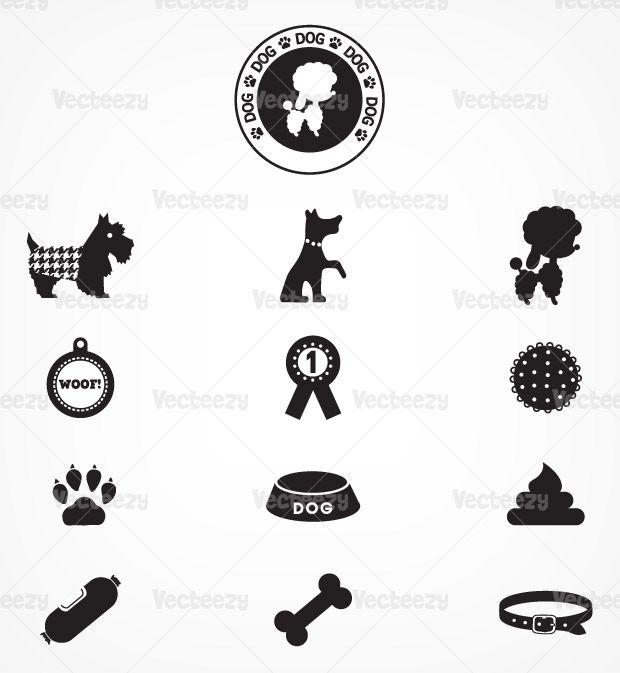 Dog vector icon pack - 13 icon vectors