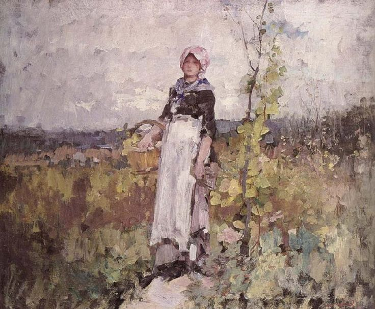French peasant Woman in the Vineyard, Nicolae Grigorescu