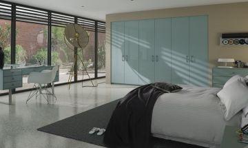 Ultragloss Metallic Blue Bedroom Doors