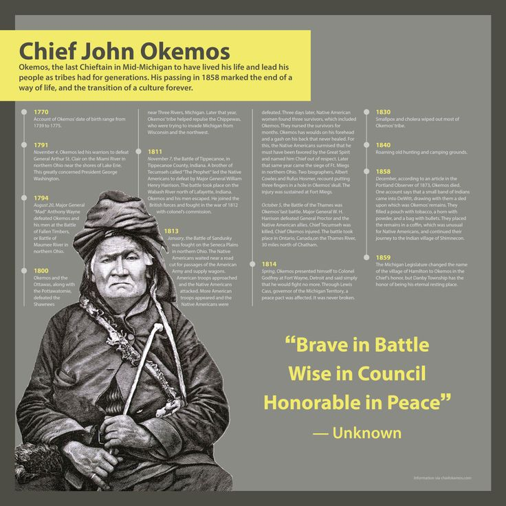 Chief Okemos Infographic | Meridian Township's History in ...