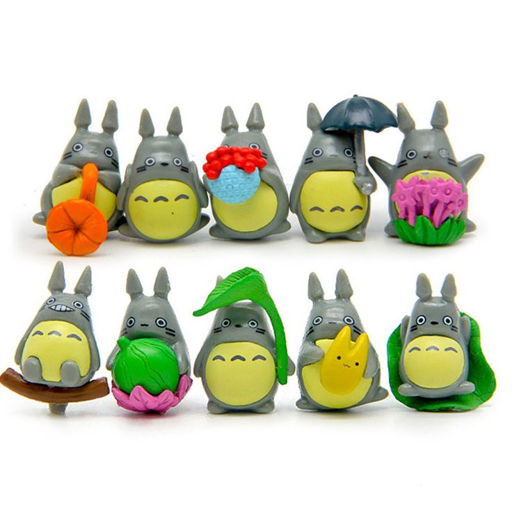 10 pcs/set Mini Totoro Figures //Price: $10.00 & FREE Shipping //     #totoro