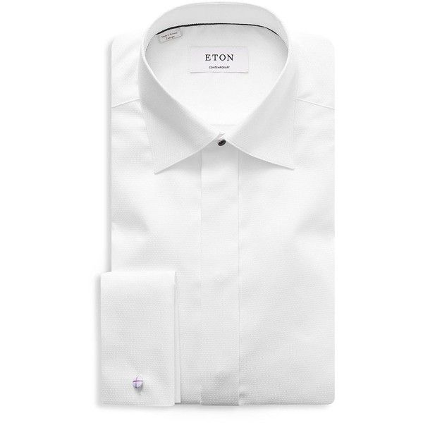 Eton Contemporary-Fit Diamond Weave Formal Dress Shirt (306,730 KRW) ❤ liked on Polyvore featuring men's fashion, men's clothing, men's shirts, men's dress shirts, mens formal shirts, mens cotton dress shirts, mens long sleeve button down shirts, mens long sleeve button down dress shirts and mens dress shirts