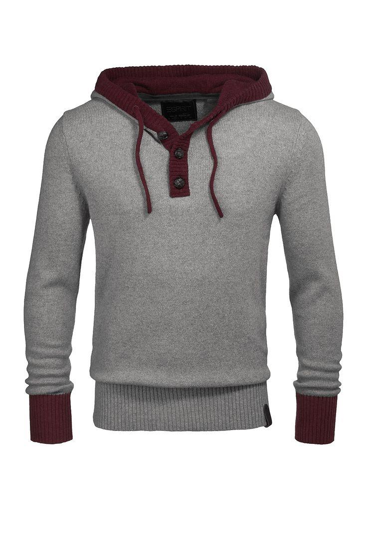 Strick-Hoodie mit Angora CASUAL - Esprit Online-Shop