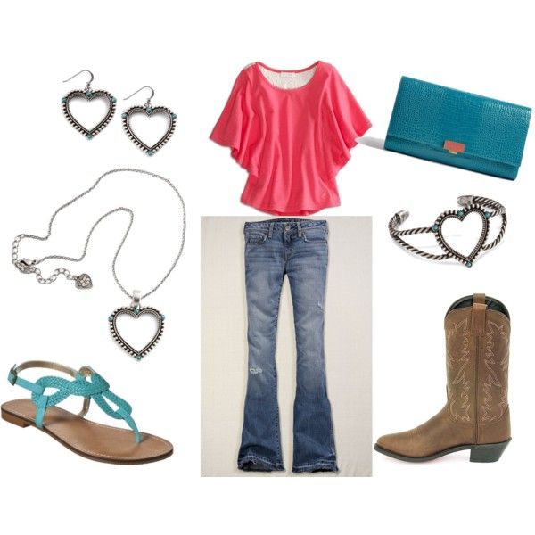 pink and turquoise. created by ohagenhoff.polyvore.com