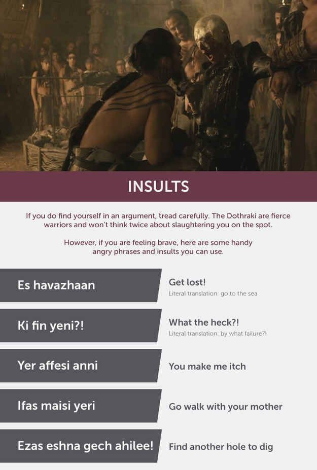 """Here's The """"Game Of Thrones"""" Dothraki Phrasebook You Were After"""