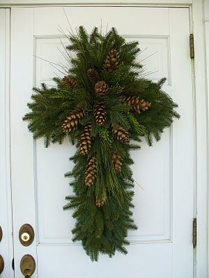 CHRISTmas decoration - This sure represents Christ better than a wreath!