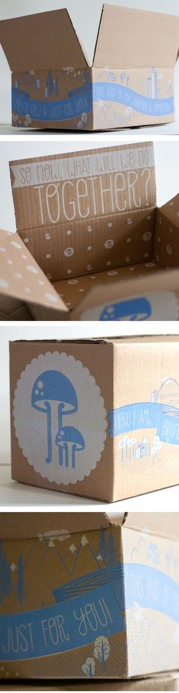 ModCloth 2012 Shipping Boxes by Joseph DeFerrari, via Behance