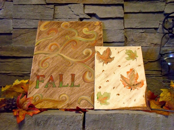 Holly Muffin: DIY Fall Canvas Paintings