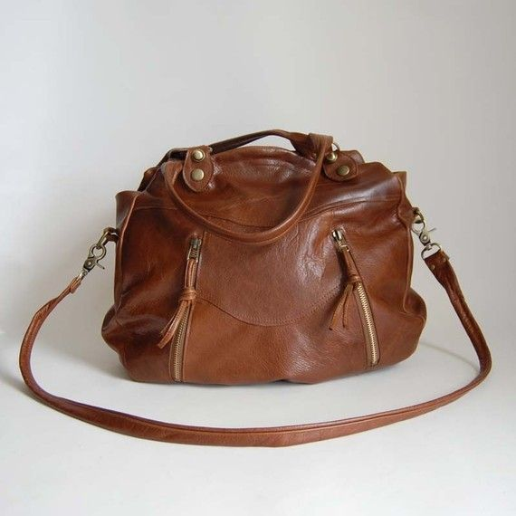 i need a brown leather bag
