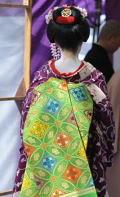 hair, kimono, obi