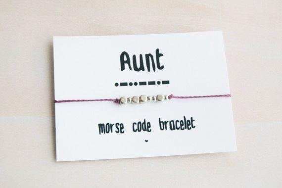 Morse code bracelet aunt morse code morse by MoisesseBracelets