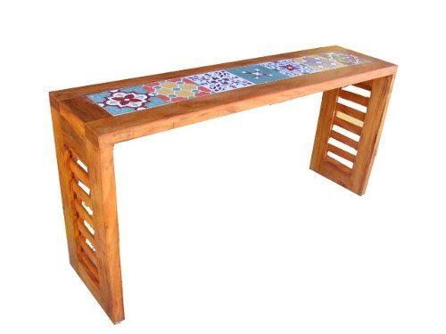 aparador rústico madeira de demolição com ladrilho http://produto.mercadolivre.com.br/MLB-563677155-aparador-rustico-madeira-de-demolico-com-ladrilho-_JM