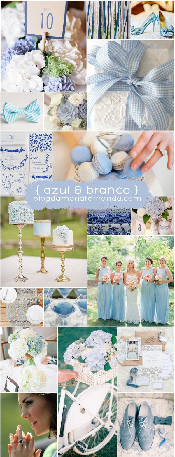 Decoração de Casamento : Paleta de Cores Azul e Branco | http://blogdamariafernanda.com/decoracao-de-casamento-paleta-de-cores-azul-e-branco