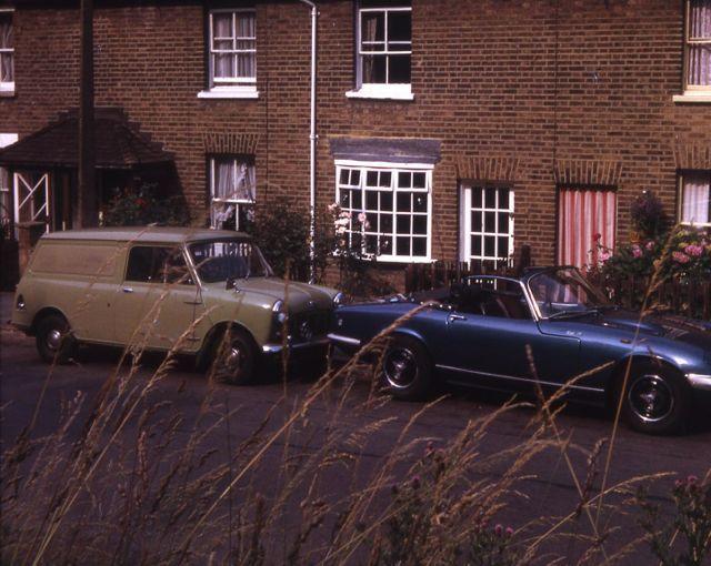 Minivan and Lotus Elan SE3, in 1975
