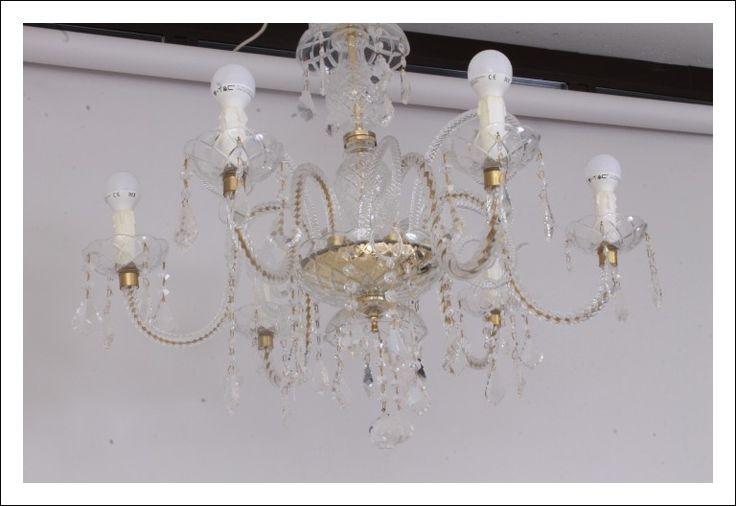 Grande lampadario impero di cristallo, con gocce pendenti, 18 luci. Lampadario Cristallo Swarovski Vintage Anni 70 Stupendo Sei Luci Restaurato Elettrificato Grande Lampadari Cristallo Antiquariato Swarovski