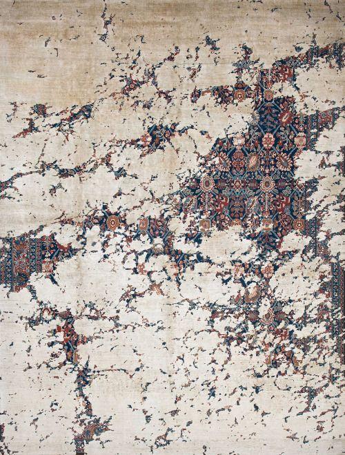 Erased Heritage by Jan Kath Incorporating traditional Egyptian Mamluks, Iranian Bidjars, and Turkish Konyas, turning them into distressed and decidedly modern interpretations of centuries old designs.
