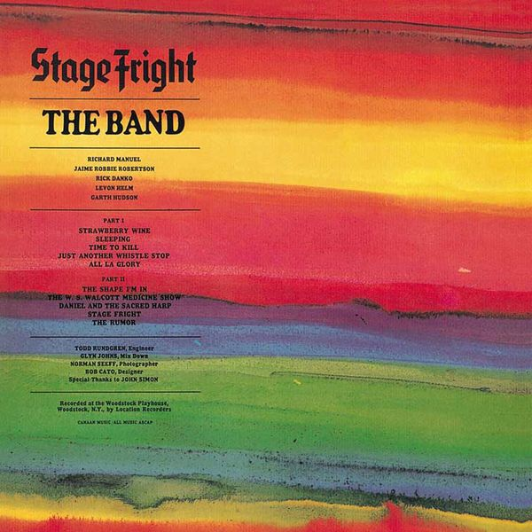 Stage Fright In 2020 The Band Songs Music From Big Pink Album Covers