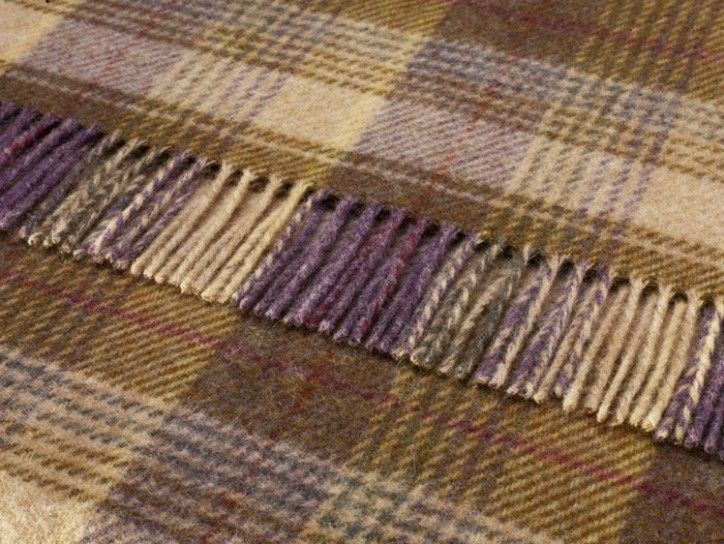 Shetland Quality Pure Wool Huntingtower Grape Throw Tartan Throws Cms By Size Sofa