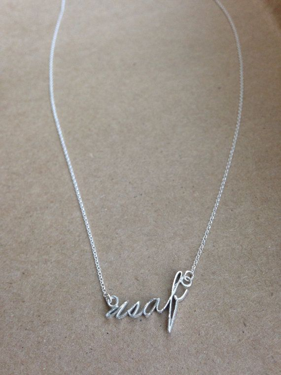 United States Air Force necklace on Etsy, $35.00