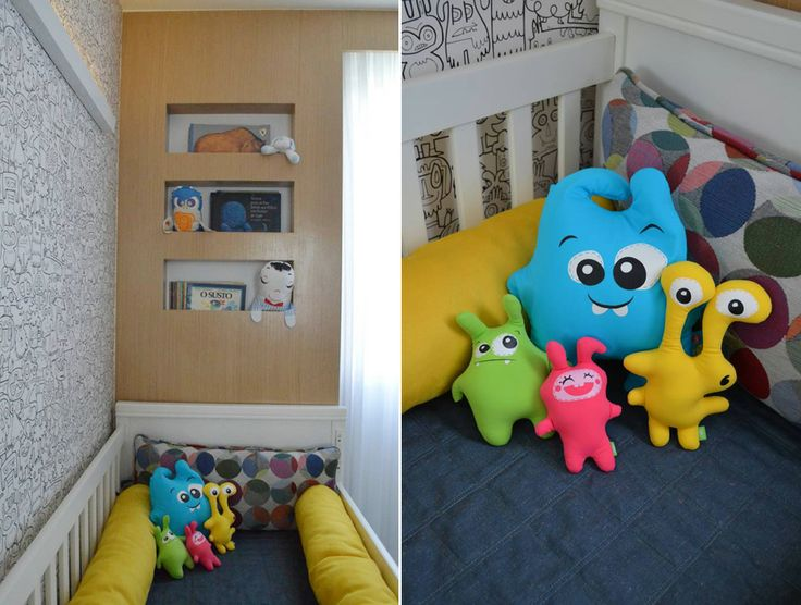 A baby room with theme monsters.