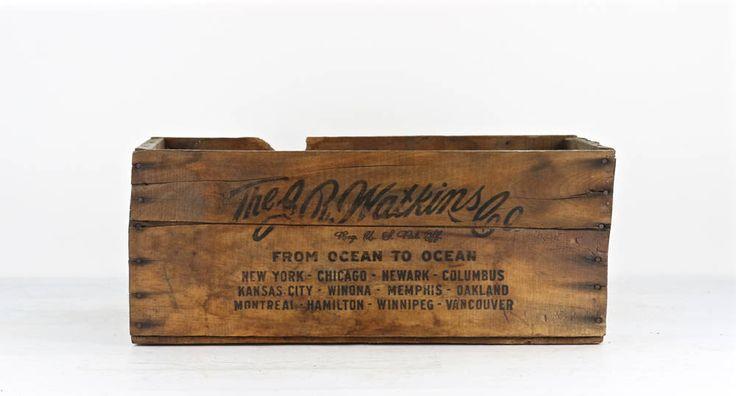 Vintage J.R. Watkins Company Medicines XL Wood Crate, Apothecary Wood Crate, Vintage Medicines Wooden Crate, J.R. Watkins Company, Pharmacy by HuntandFound on Etsy