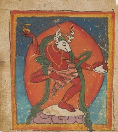 Tibetan ... Bon tsakli set... 15th century...watercolour on paper