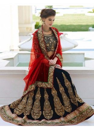 Trendy Magnificient Royal Blue Lehenga Choli