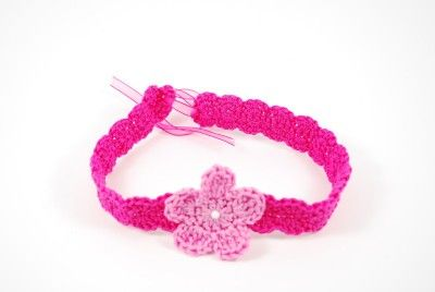 baby flower headband *free crochet pattern